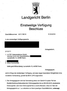 LUTOP Elmar Sommerfeld Gerichtsbeschluss